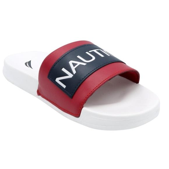 d1c9232b511 Nautica Boys Youth Altair Slide Sandals Shoes